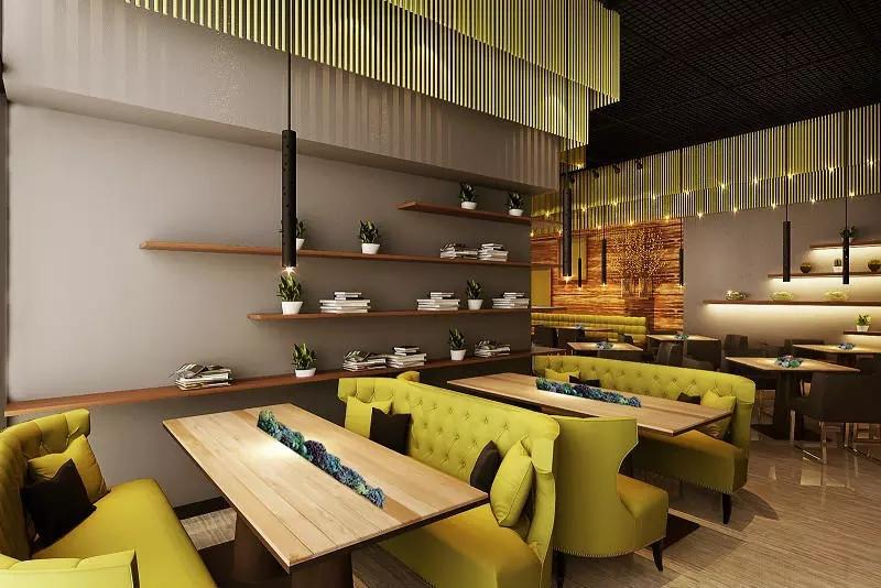 宝安沙井西荟城格林咖啡馆门店设计必威体育苹果app案例图3