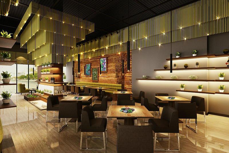 宝安沙井西荟城格林咖啡馆门店设计必威体育苹果app案例图1