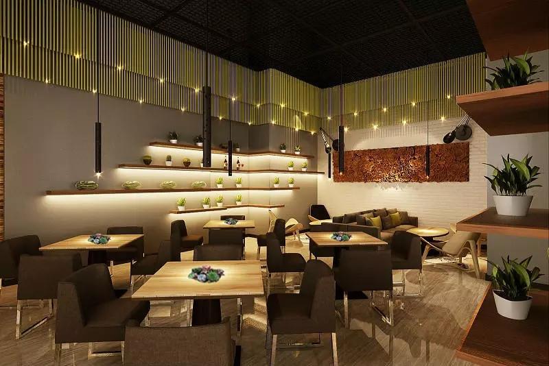 宝安沙井西荟城格林咖啡馆门店设计必威体育苹果app案例图2
