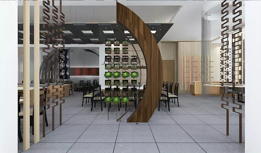 深圳沙井西荟城全台铁板烧餐厅设计装修案例图6
