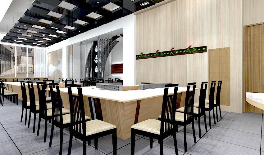 深圳沙井西荟城全台铁板烧餐厅设计装修案例图5
