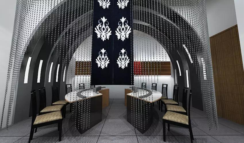 深圳沙井西荟城全台铁板烧餐厅设计装修案例图8