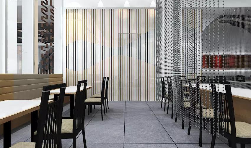 深圳沙井西荟城全台铁板烧餐厅设计装修案例图7