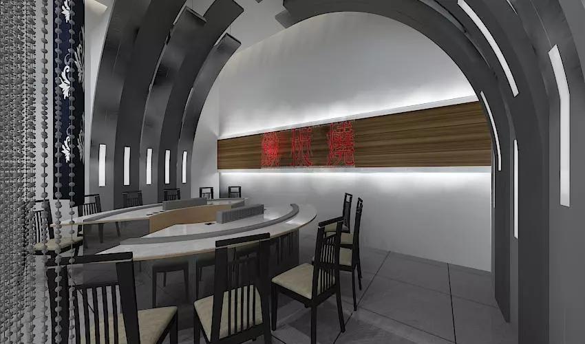 深圳沙井西荟城全台铁板烧餐厅设计装修案例图12
