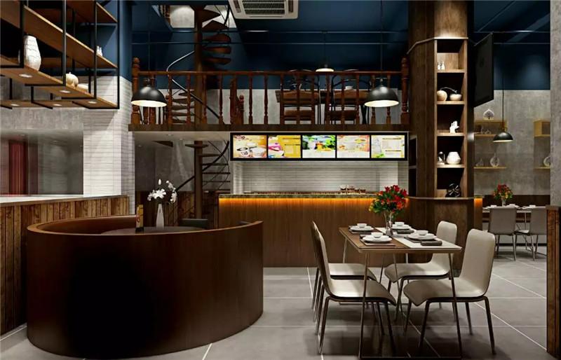 宝安西乡流塘餐一脚茶餐厅设计装修案例图5