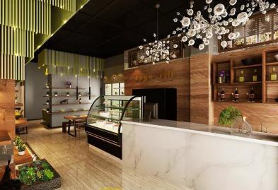 宝安沙井西荟城格林咖啡馆门店设计必威体育苹果app案例图4