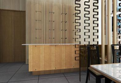 深圳沙井西荟城全台铁板烧餐厅设计装修案例图1