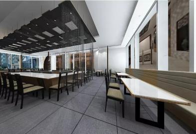 深圳沙井西荟城全台铁板烧餐厅设计装修案例图9