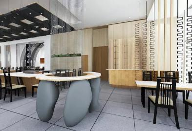 深圳沙井西荟城全台铁板烧餐厅设计装修案例图11