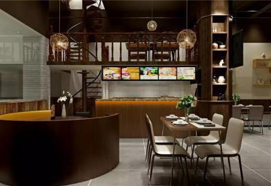 宝安西乡流塘餐一脚茶餐厅设计装修案例图2