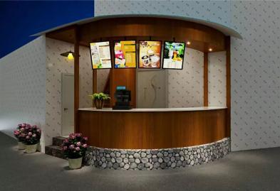 宝安西乡流塘餐一脚茶餐厅设计装修案例图4