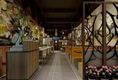 宝安西乡流塘餐一脚茶餐厅设计装修案例图6