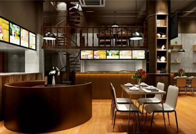 宝安西乡流塘餐一脚茶餐厅设计装修案例图7