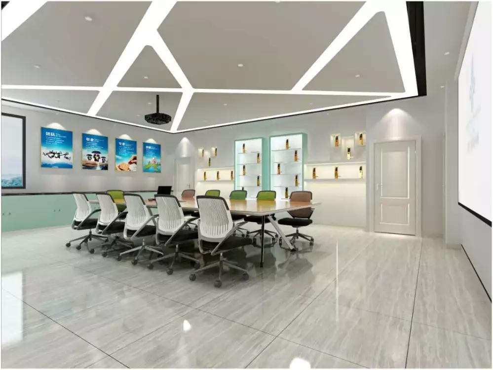 深圳石岩指纹锁展厅装修设计图2
