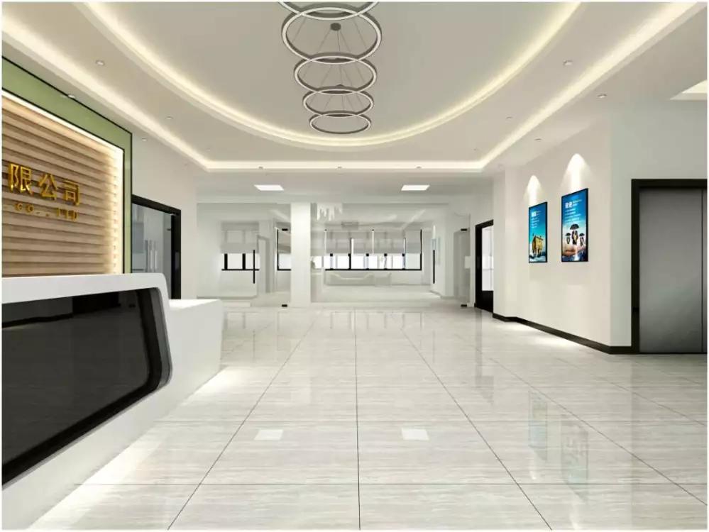 深圳石岩指纹锁展厅装修设计图1