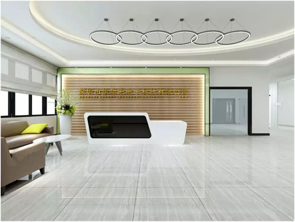 深圳石岩指纹锁展厅装修设计图3