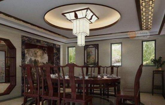 深圳别墅设计装修 餐厅吊顶