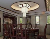 深圳别墅设计装修 新中式别墅餐厅吊顶的一些见解