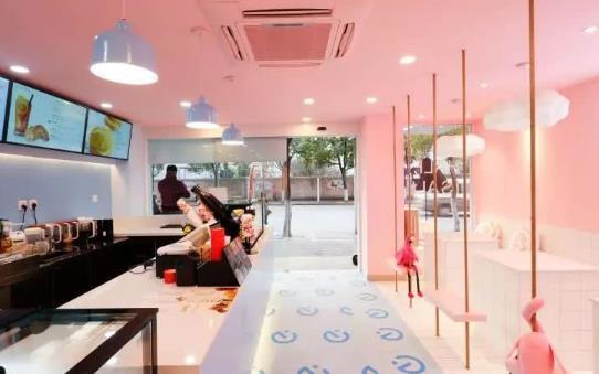 深圳店铺装修 奶茶店设计装饰